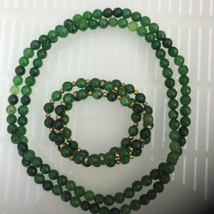 Jade Bracelet and Necklace Set